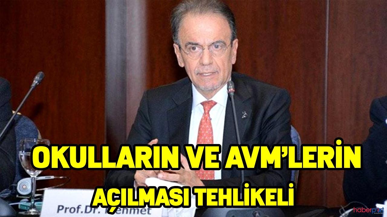 Prof. Dr. Mehmet Ceyhan, uyardı! Okulların ve AVM'lerin açılması tehlikeli