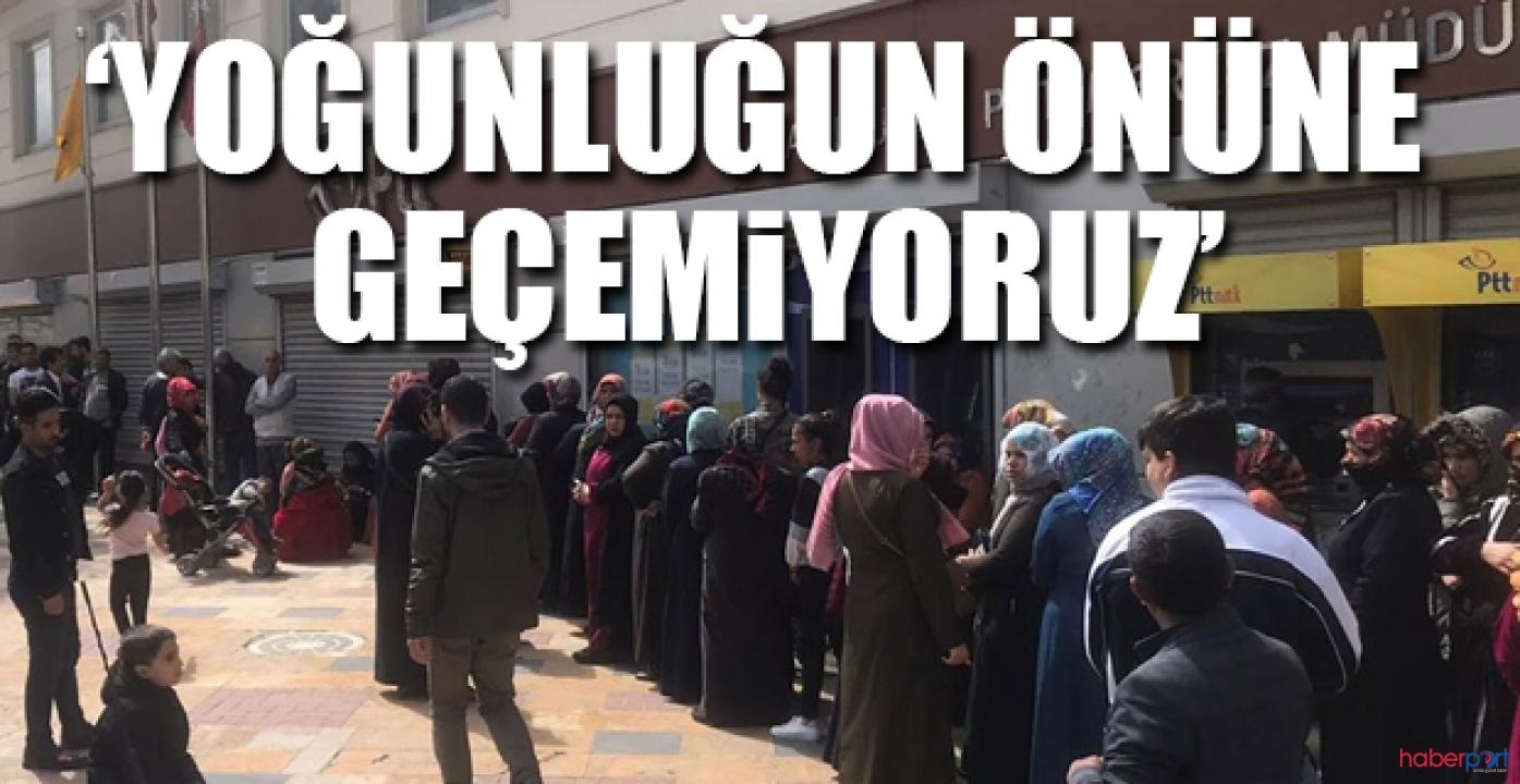 Şanlıurfa PTT gişelerinde mahşeri kalabalık, Valilik açıklama yaptı