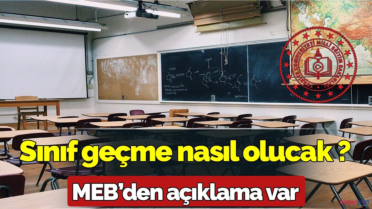 Sınıf geçme ile ilgili MEB'den açıklama geldi