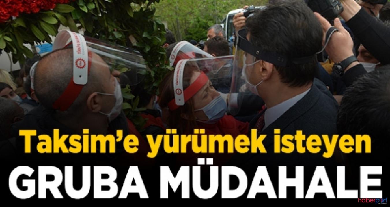Taksim'e çıkmak isteyen DİSK üyelerine polis müdahalesi, Gözaltılar var!