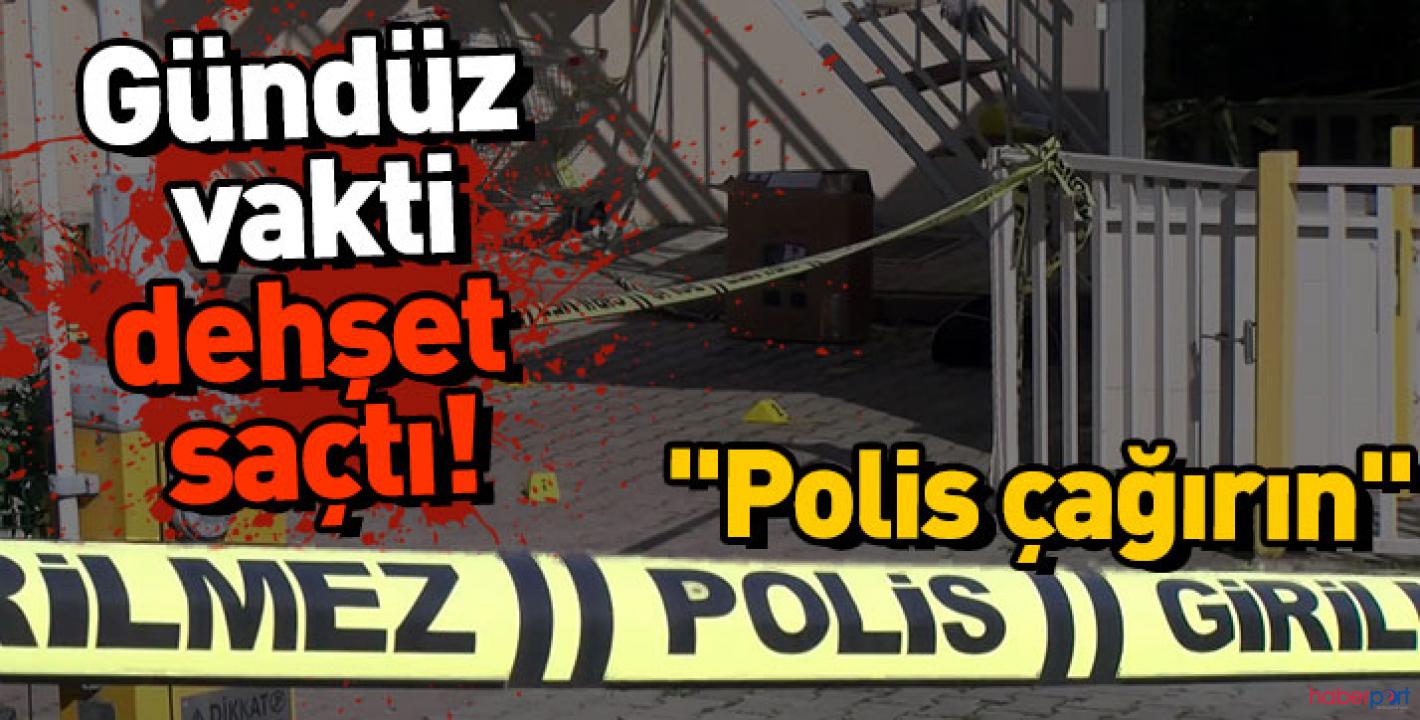 Tartıştığı site görevlisini öldürüp balkondan polis çağırın diye bağırdı