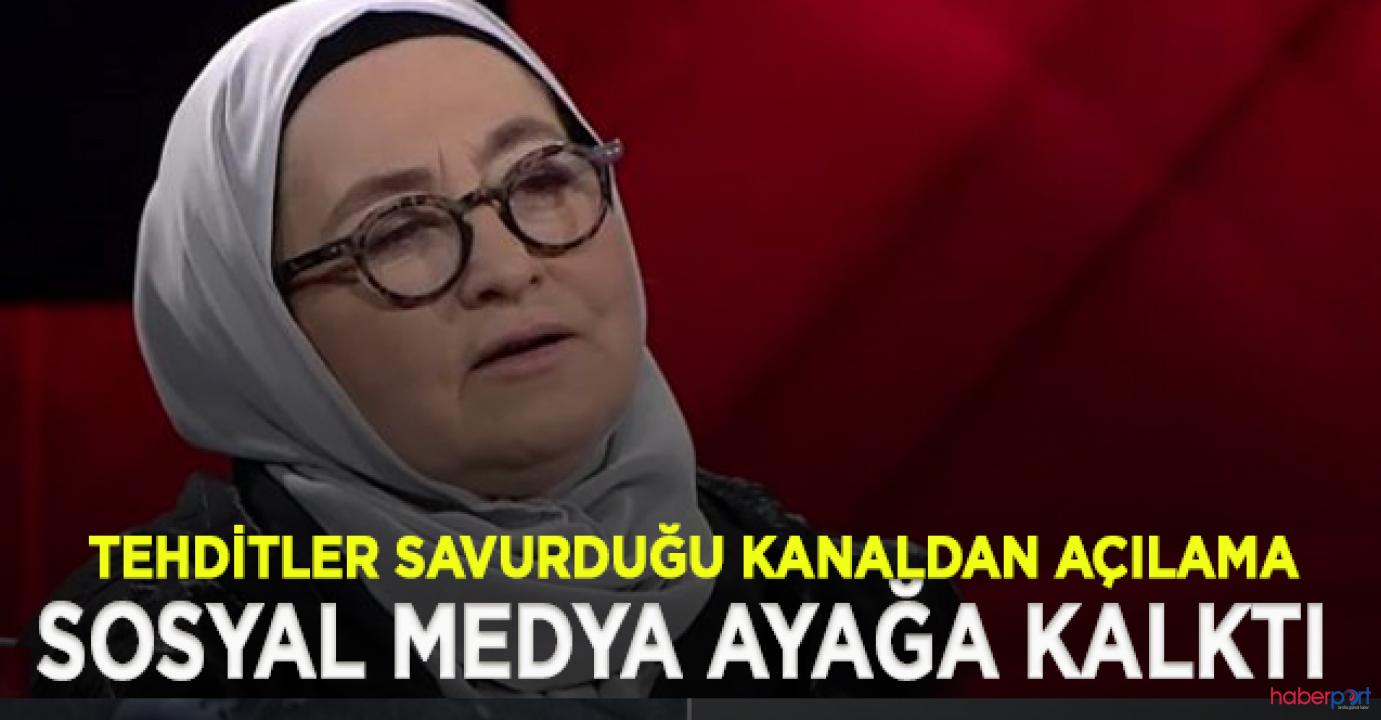 Yazar Sevda Noyan'ın ölüm tehditlerine Ülke TV ve Kanal 7'den açıklama
