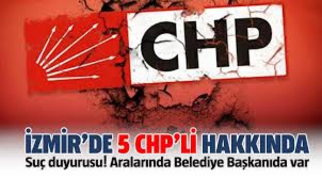 CHP'li Konak Belediye Başkanı ve kurmaylarına 5 farklı suçtan suç duyurusu