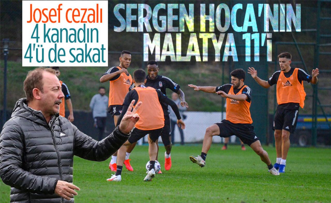 Beşiktaş- Yeni Malatyaspor maçı (Sergen Yalçın'ın muhtemel 11'i)