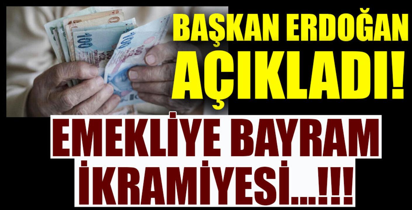 Cumhurbaşkanı Erdoğan emekli ikramiyesinin ne kadar olduğunu duyurdu!
