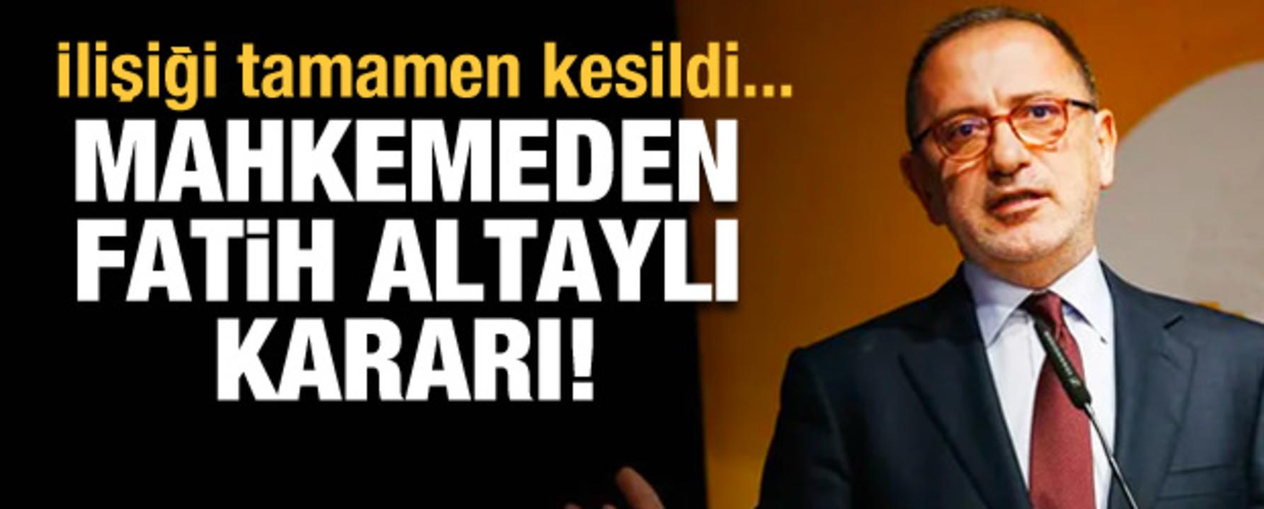 Gazeteci Fatih Altaylı'ya mahkemeden ret cevabı!