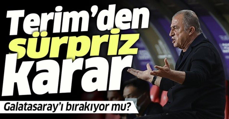İstifası istenen Galatasaray'ın hocası Fatih Terim'den sürpriz karar!