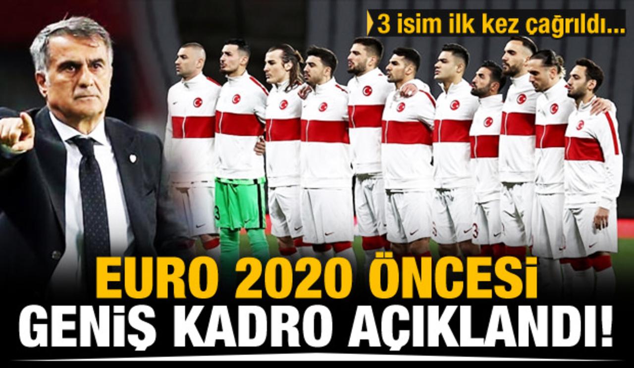 A Milli Futbol Takım'ın EURO 2020 kamp kadrosu açıklandı!