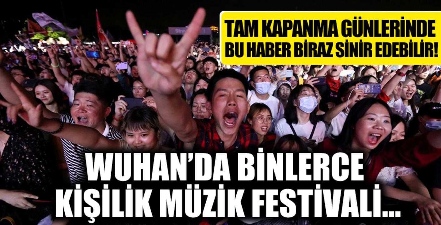 Çin'den dünyayı kızdıran görüntüler! Binlerce kişi maskesiz konsere katıldı