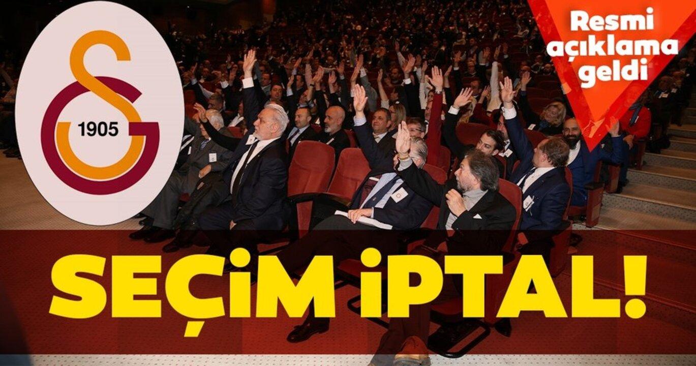 Galatasaray, olağan seçimli genel kurul toplantısını iptal etti!