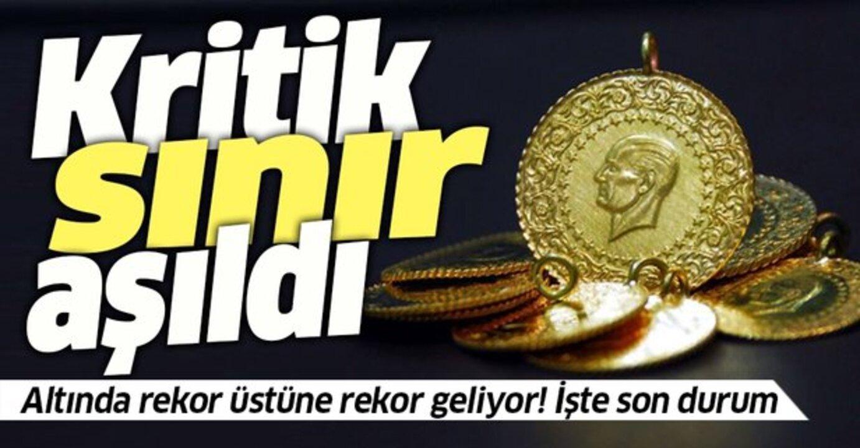 Gram altın 500 lira seviyesinde! Altın fiyatlarında kritik sınır aşıldı..