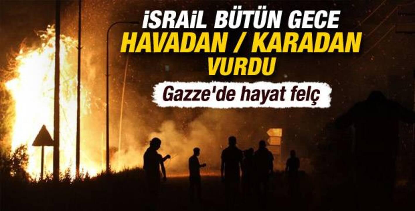 İsrail savaş uçakları Gazze Şeridi'ni tekrar bombaladı!