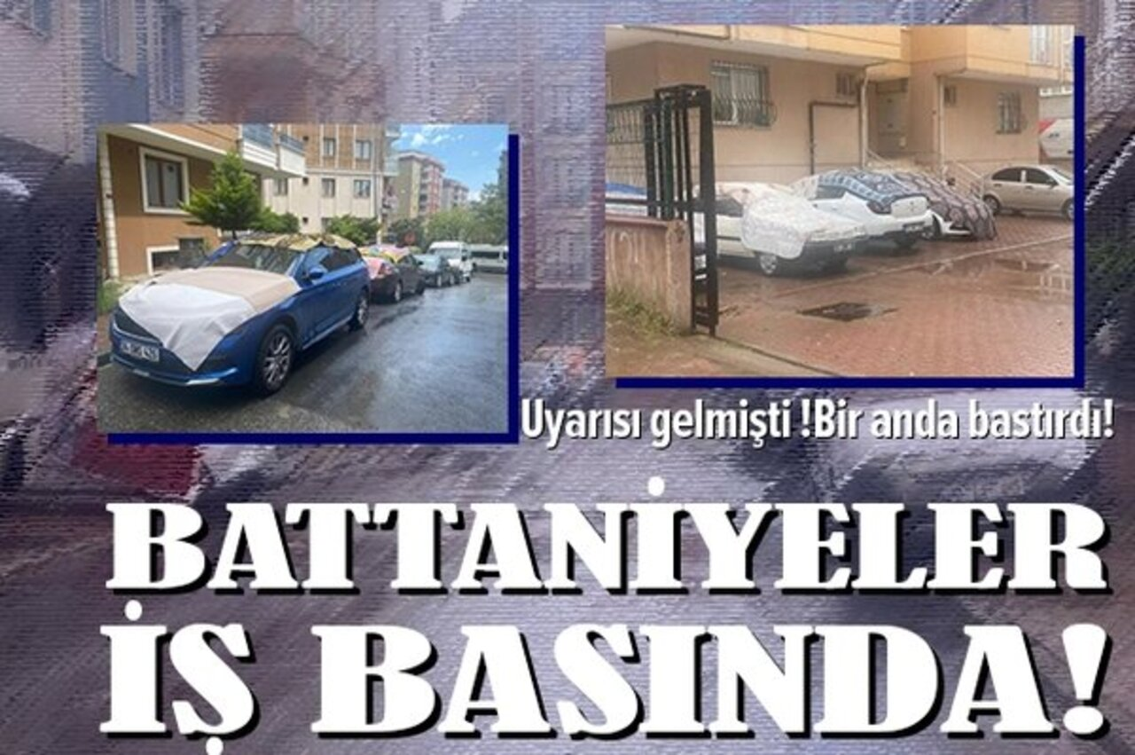 İstanbul'da battaniyeli dolu önlemi