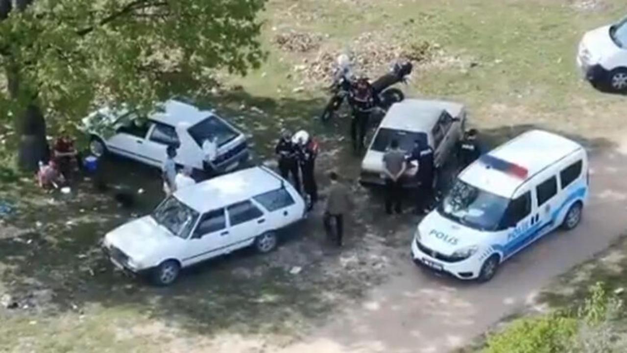 Kırklareli'nde piknik yapan 6 vatandaş dron ile yakalandı!