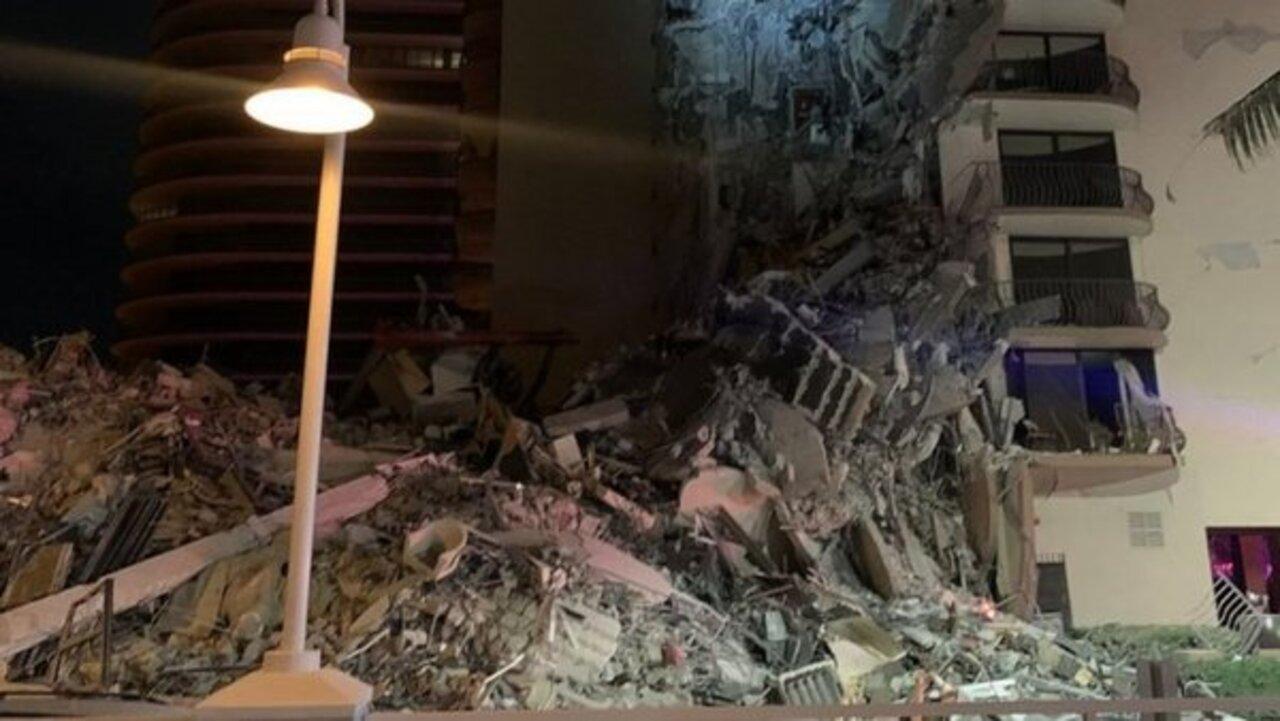 ABD'de dehşet anlar! Miami şehrinde bir bina çöktü!