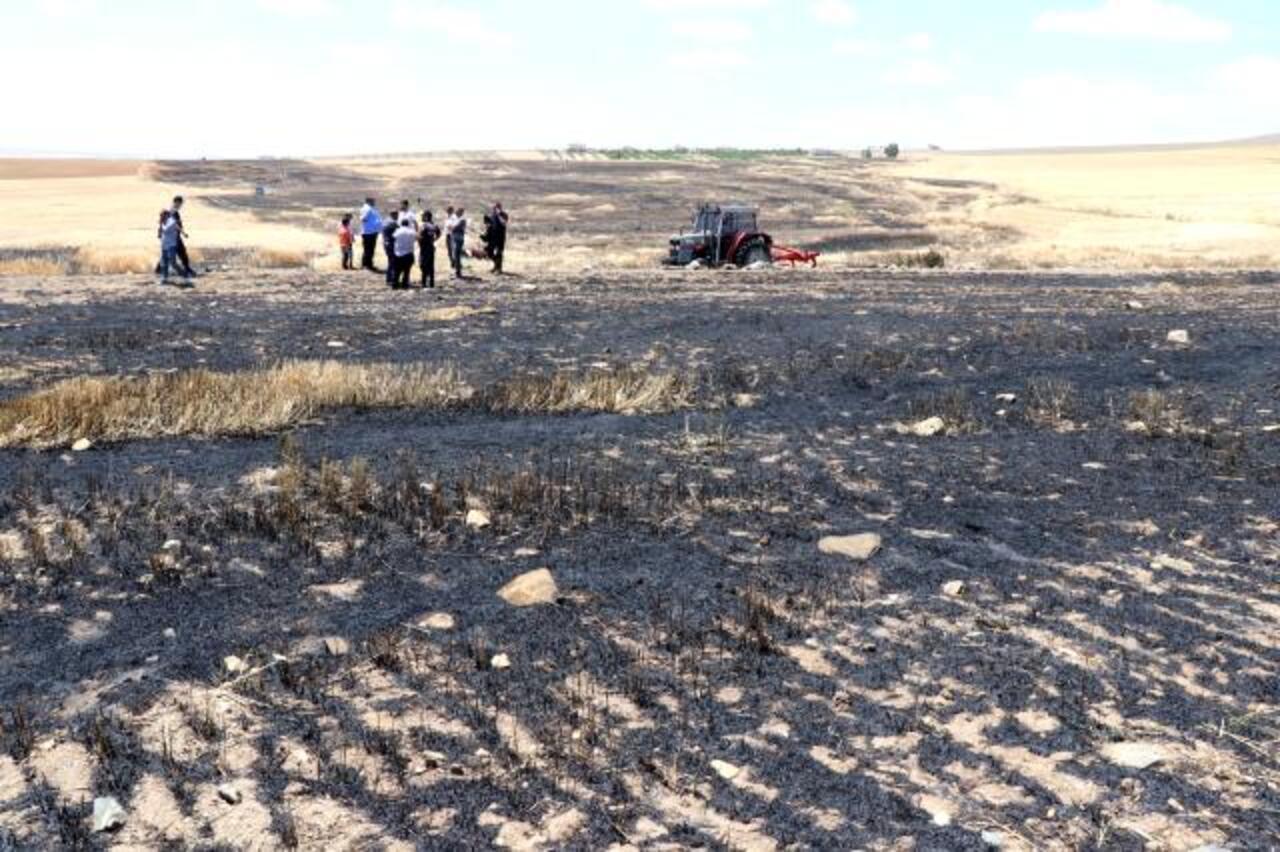 Aksaray'da hasada günler kala 250 dekarlık arpa tarlasında yangın