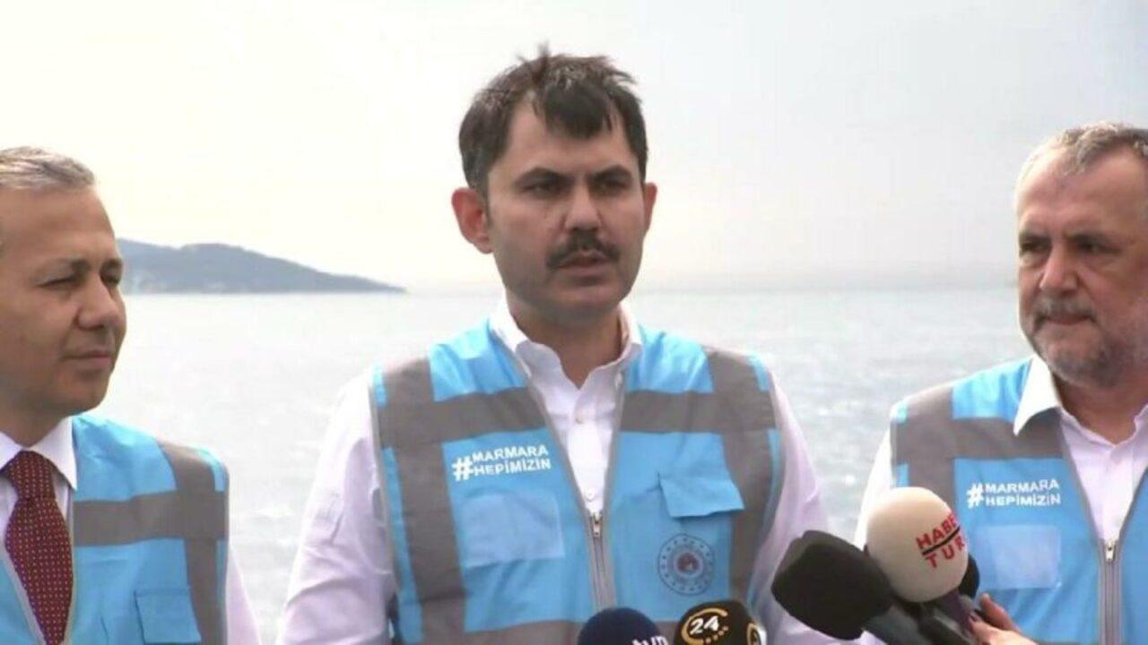 Bakan Murat Kurum müsilaj temizlemeleri kapsamında: