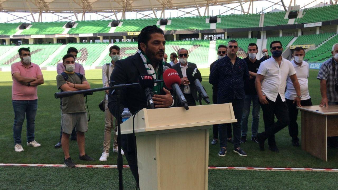 Başkan adayı Uğur Akkuş Sakaryaspor Kongresinde konuşma yaptı