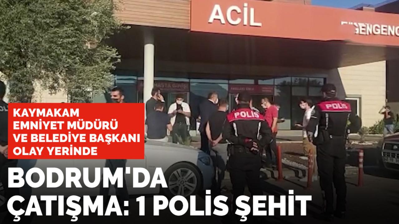 Bodrum'da polise karşı gerçekleştirilen silahlı saldırıda 1 polisimiz şehit olurken  1 polisimiz yaralandı