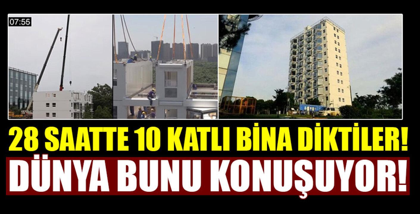 Çin'den bina yapma rekor! 10 katlı bina 28 saatte inşa edildi..