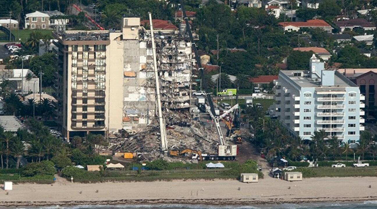 Florida'da çöken binadaki ölü sayısı 9'a çıktı!