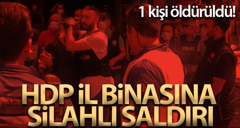 İzmir'deki HDP İl Başkanlığı'na silahlı saldırı!