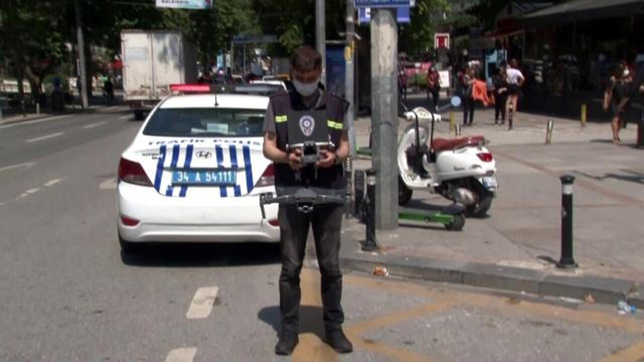 Kadıköy'de trafik denetimine drone desteği!