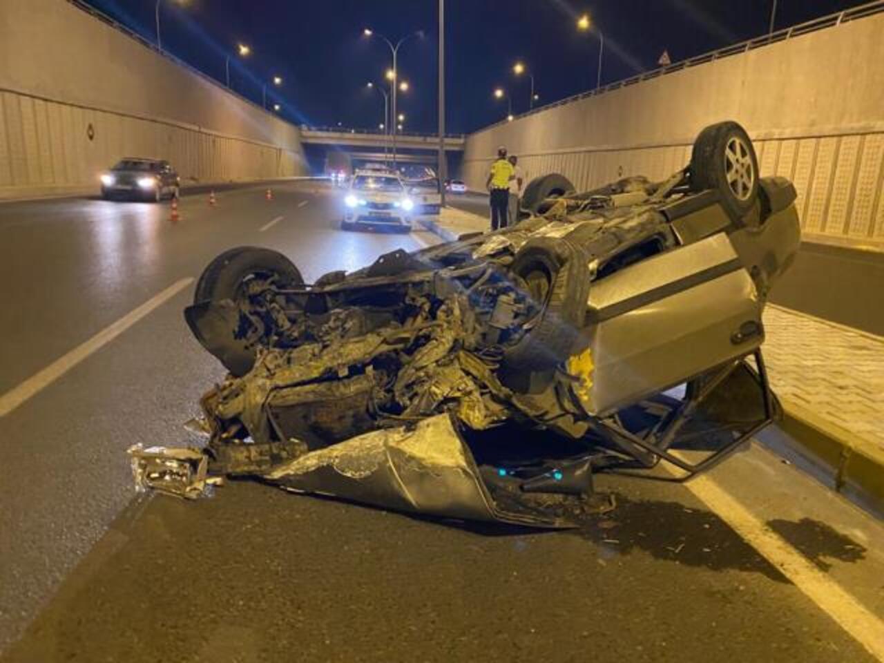 Kahramanmaraş'ta otomobilin devrilmesi sonucu iki kişi yaralandı
