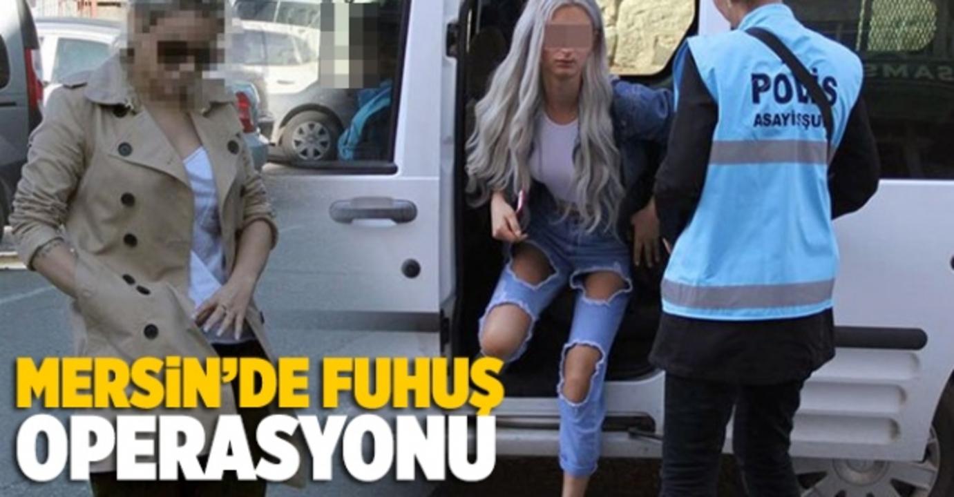 Mersin'de fuhuş operasyonunda 7 kişi gözaltına alındı