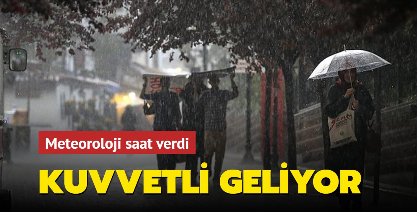 Meteoroloji saat verdi! İstanbul için sel uyarısı
