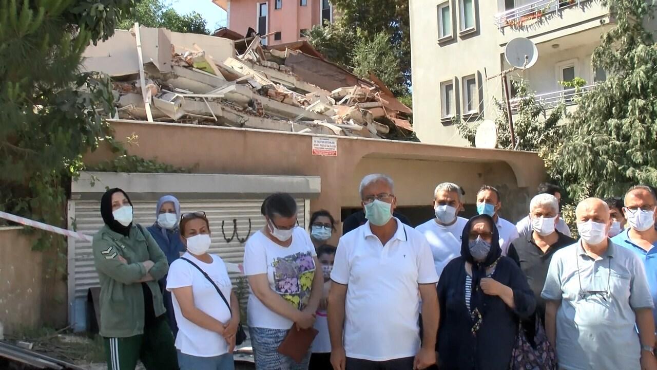 Sarıyer'de yıkılan binanın sakinlerinden şok eden iddia: Sosyal tesisten 2 haftada çıkarıldık!