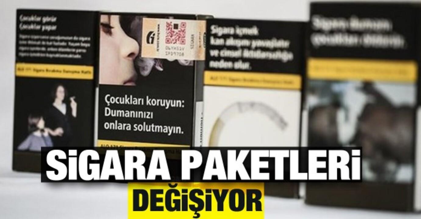 Sigara paketlerinde değişikliğe gidiliyor!