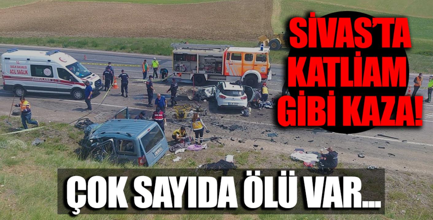 Sivas'ın Gölova ilçesinde meydana gelen kazada 9 kişi can verdi!