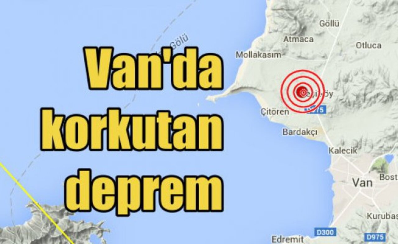 Son dakika: Van'da deprem meydana geldi