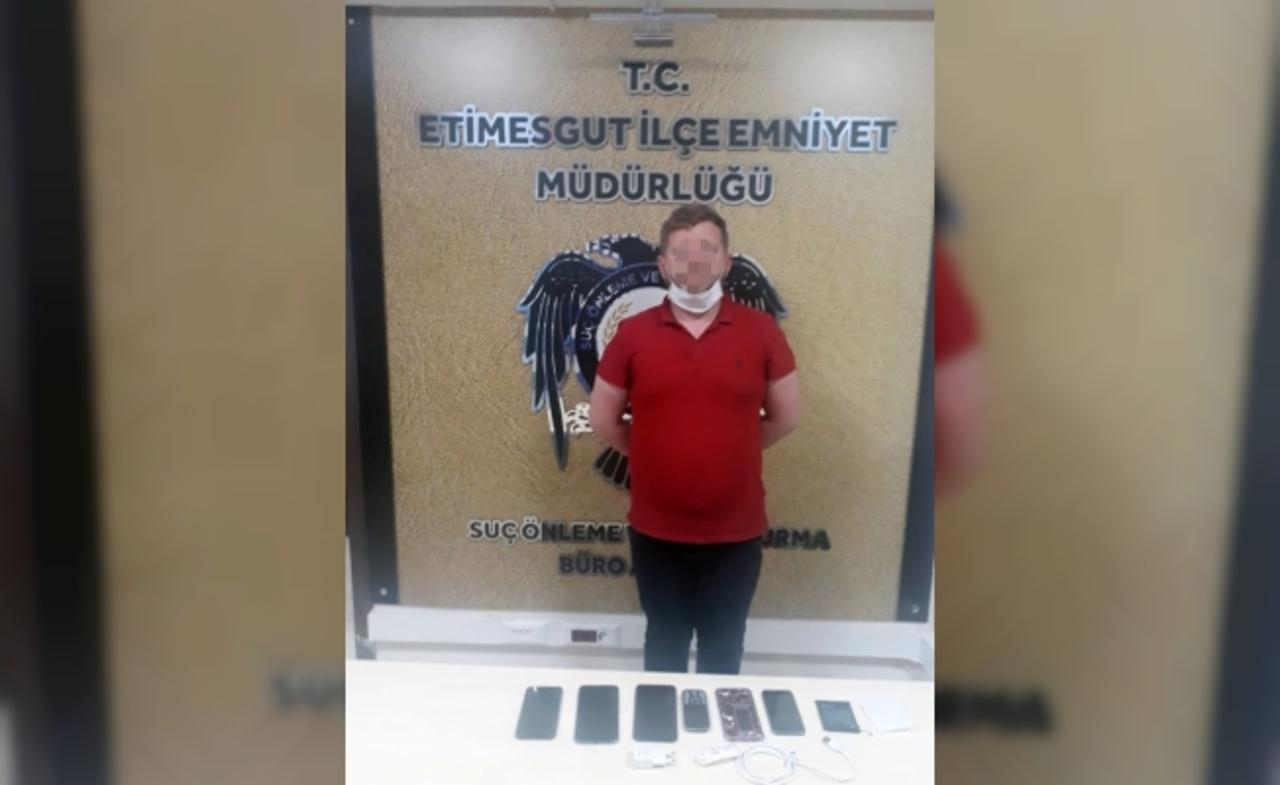 Telefon hırsızı AŞTİ'de yakalandı