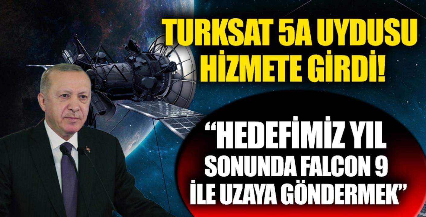 Türkiye'nin gurur günü: Türksat 5A uydusu Başkan Erdoğan tarafından hizmete alındı!