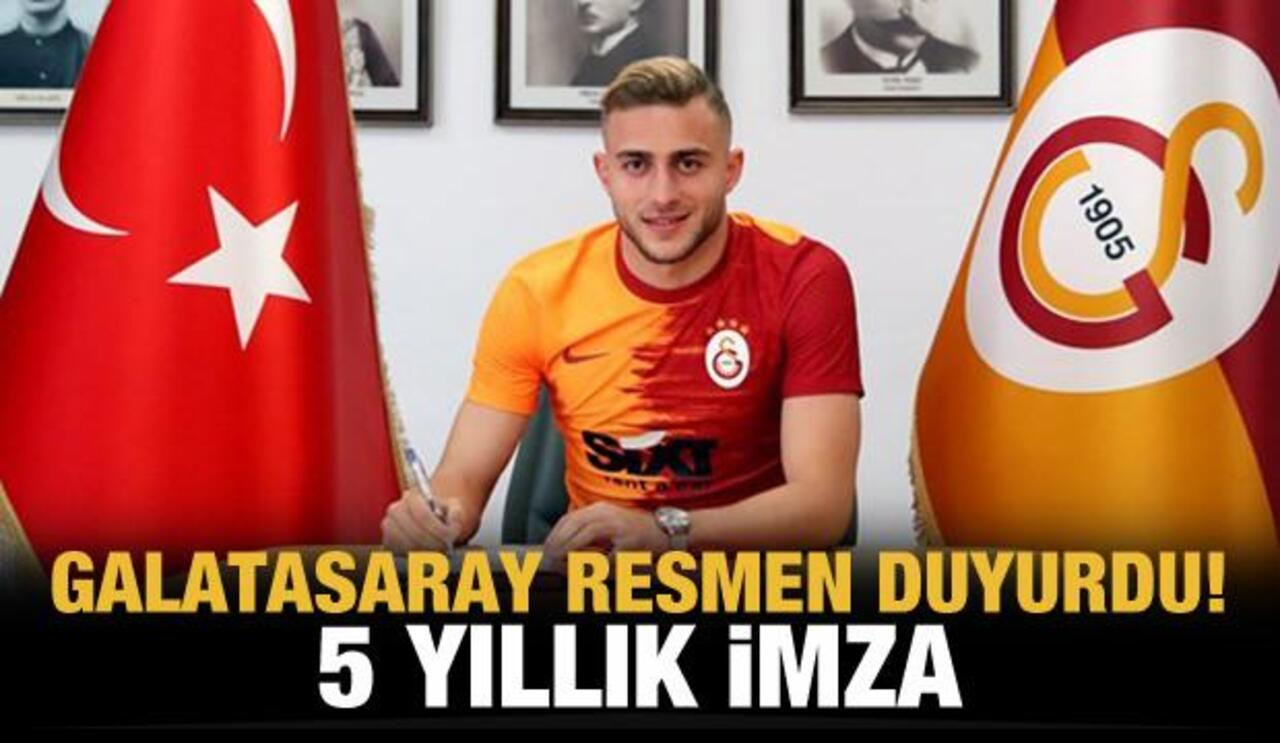 5 yıllık sözleşme imzalayan Barış Alper Yılmaz resmen Galatasaray'lı oldu..