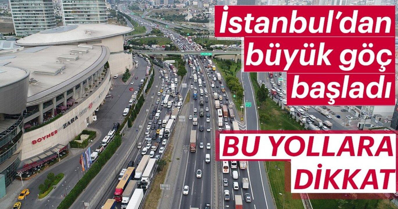 9 günlük kurban tatilini fırsat bilen İstanbullular, şehri terk ediyor!
