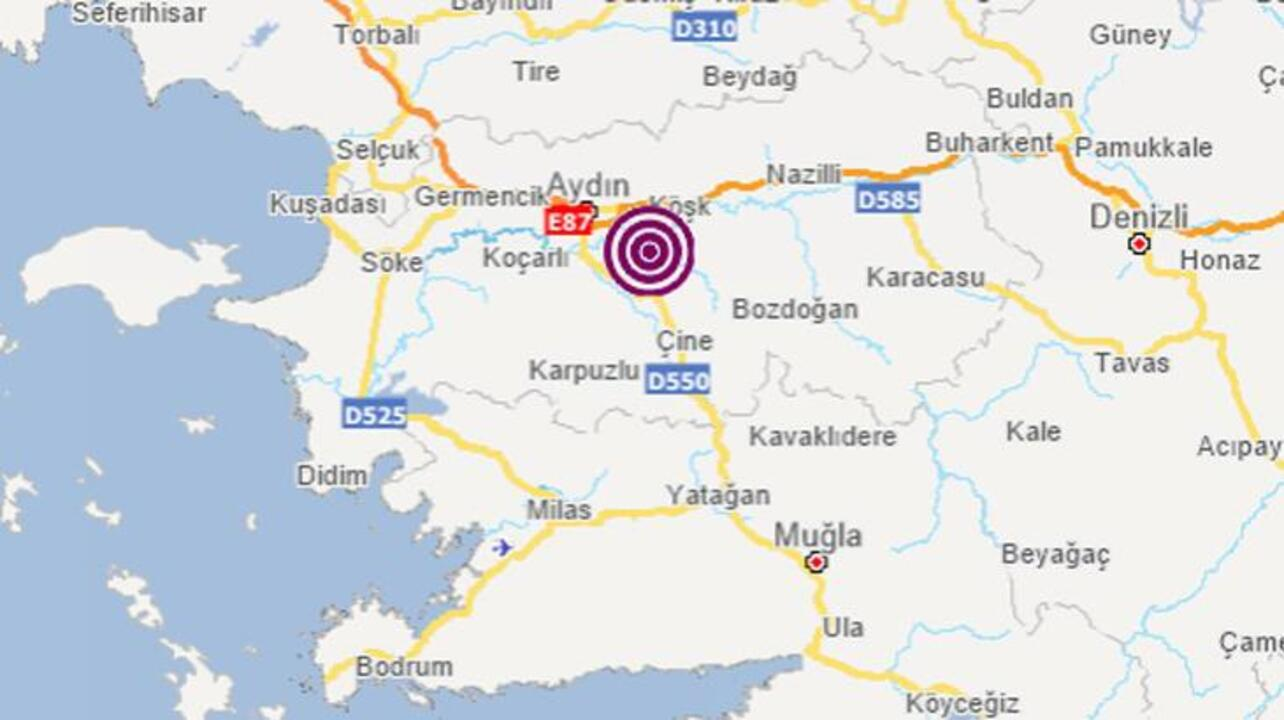 Aydın'da 3.9 şiddetinde deprem