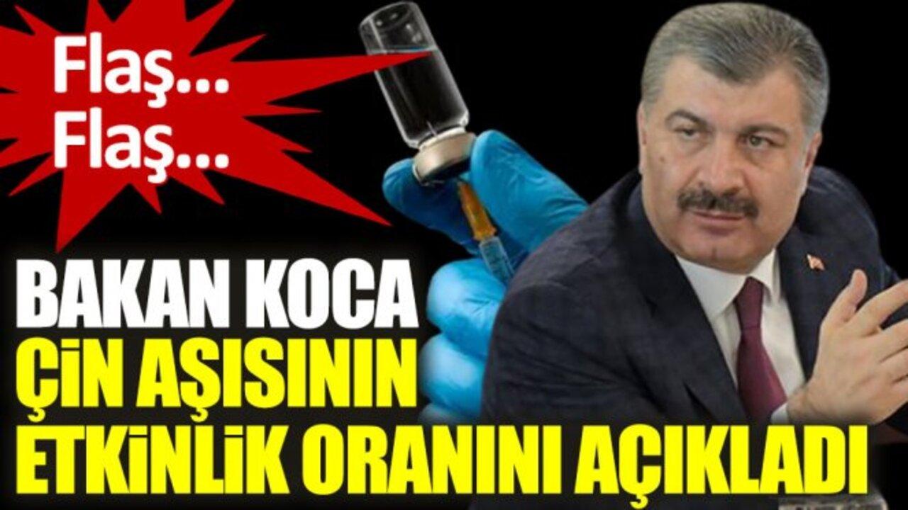 Bakan Fahrettin Koca, Sinovac'ın iki dozunun etkinlik oranını açıkladı