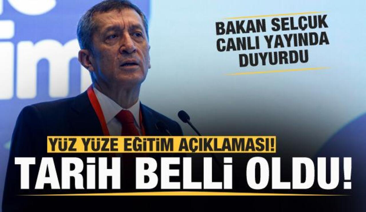 Bakan Ziya Selçuk, okulların açılma tarihini duyurdu!