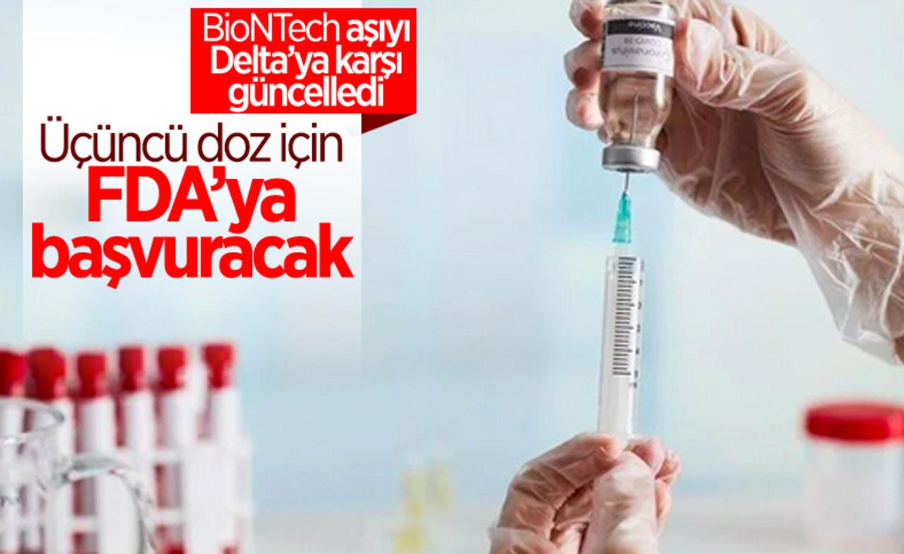 BioNTech, aşının üçüncü dozu için FDA'ya başvurmaya hazırlanıyor