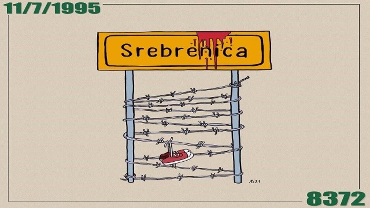 Bosnalı karikatür sanatçısı Admir Delic, Srebrenitsa katliamını yaptığı çizimlerle gözler önüne seriyor