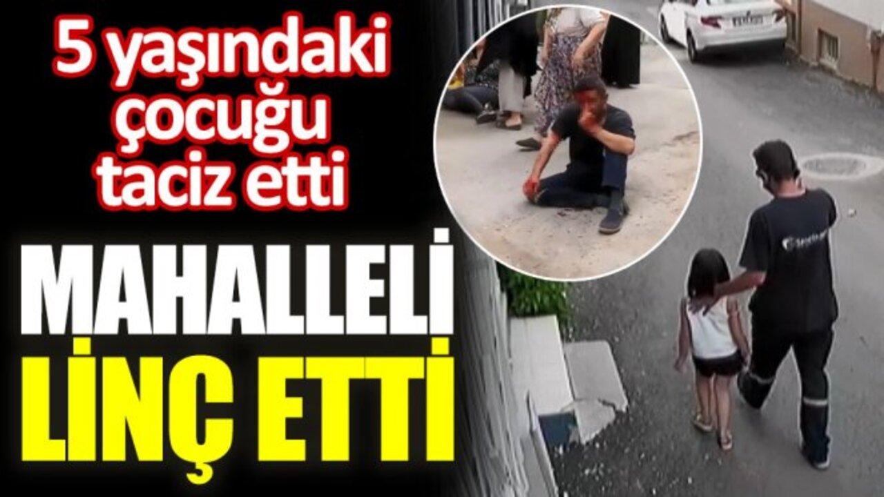 Bursa'da 5 yaşındaki kız çocuğunu taciz eden şahsa mahalleliden meydan dayağı!