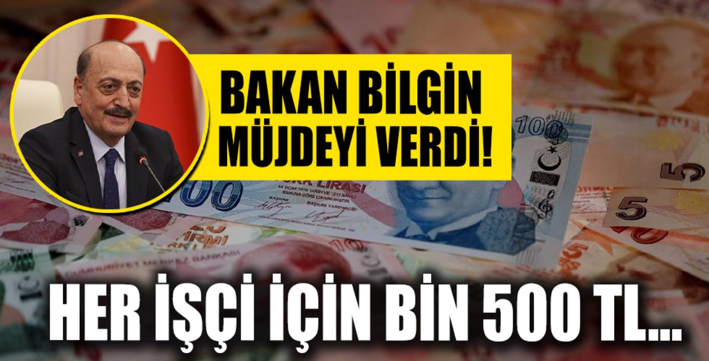 Hükümetten işçi ve işverene bin 500 TL'lik destek!