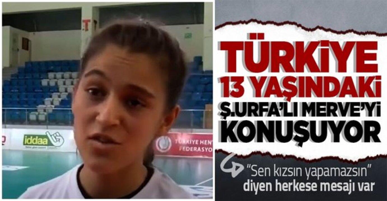 Köyünde cinsiyet ayrımcılığı yaşayan 13 yaşındaki Urfa'lı hentbolcu Merve Akpınar'a destek yağdı!