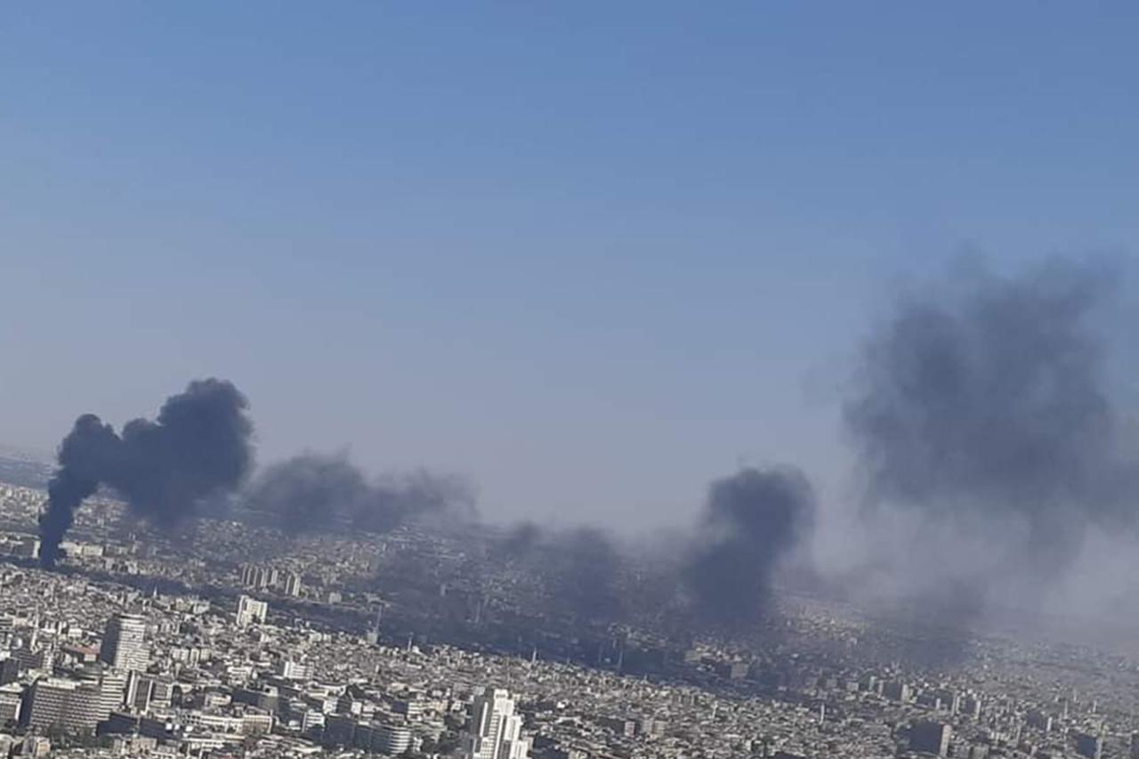 Suriye'nin başkenti Şam'da korkutan yangın