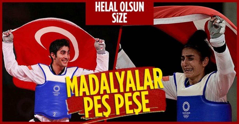 Tokyo 2020 Olimpiyatları'nda Türkiye'ye tekvandoda iki bronz madalya geldi
