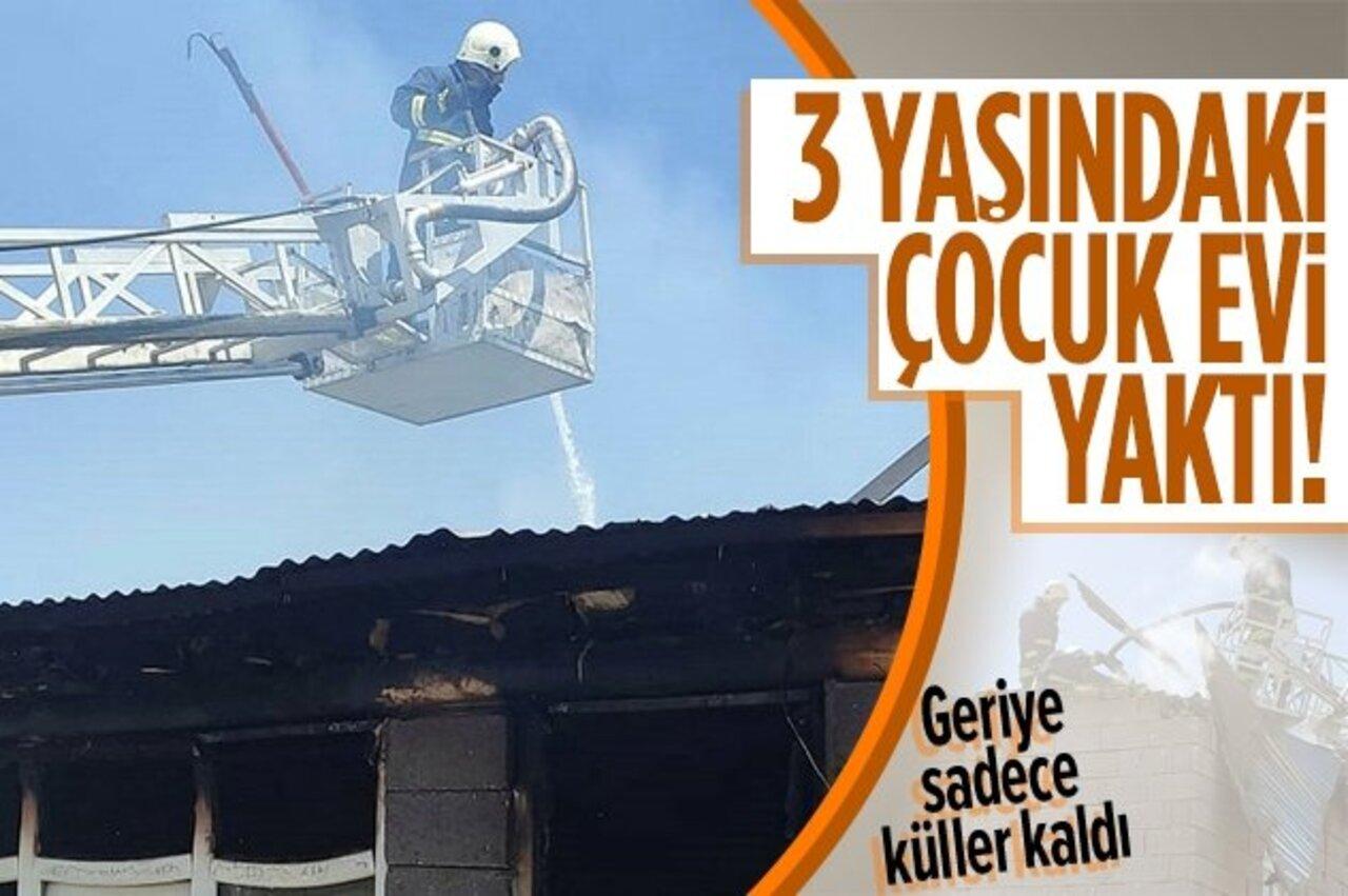 Van'da 3 yaşındaki çocuk çakmakla oynadığı sırada evi yaktı!