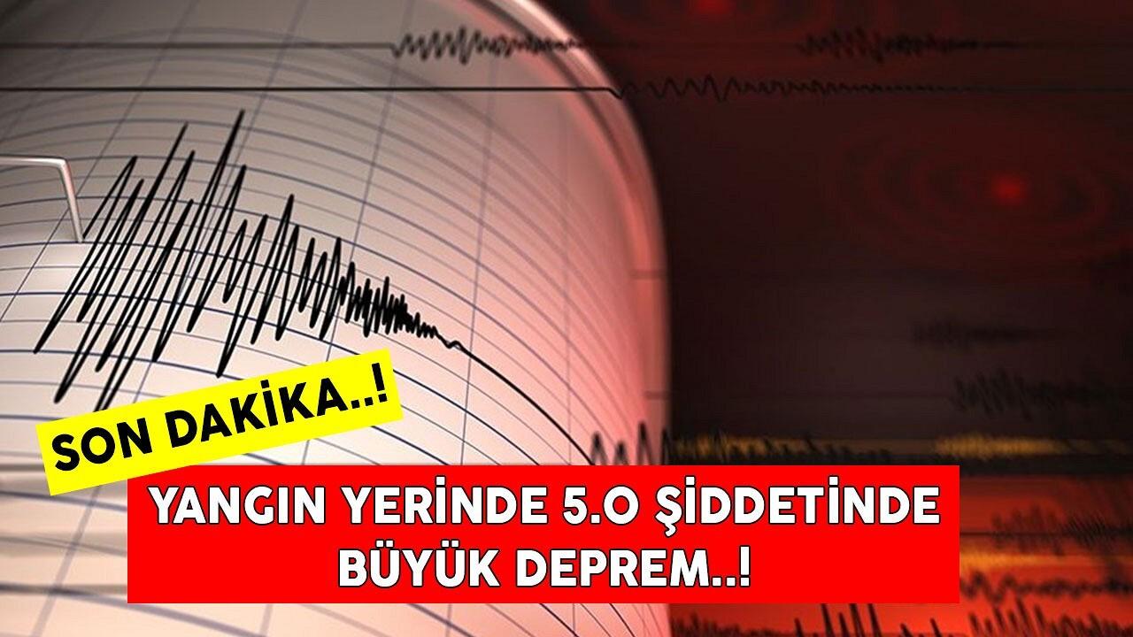 AFAD Muğla'nın Datça ilçesinde 5.0 büyüklüğünde bir deprem meydana geldiğini duyurdu!